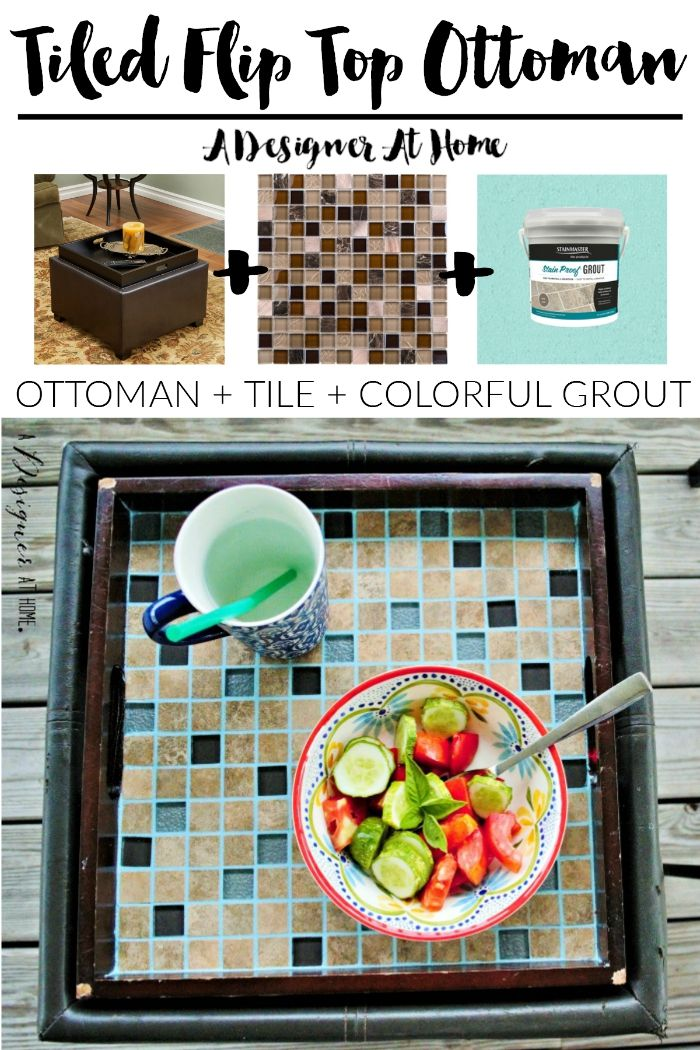 tiling a flip top ottoman sounds super easy and makes sense! they ...