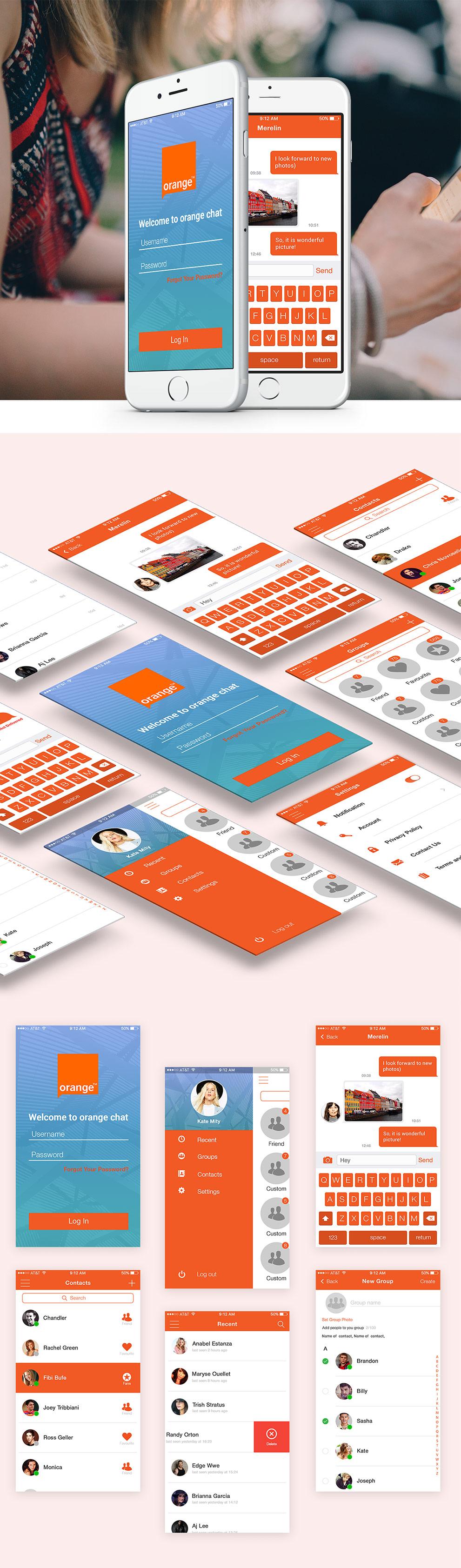 p>Download Mobile Chat Application UI Design Free PSD Set  Modern
