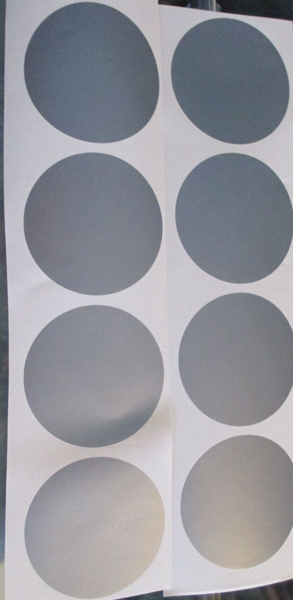 8 Metallic Silver Polka Dot Vinyl Wall Decals take a plain wall and make it extraordinary quickly and easily. They will give any room the