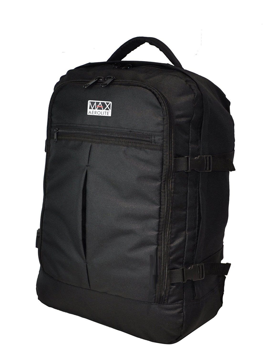 Aerolite Max Backpack 55x40x20cm Ryanair Approved Cabin Hand Luggage Carry  on (Black)  Amazon.co.uk  Luggage 8ee55cce3d381