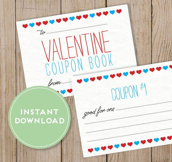 Printable ValentineS Day Coupon Book Editable Pdf Diy Valentine
