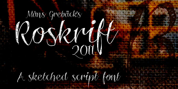 Free wedding fonts - Roskrift font - this font is sketched, so would go nicely with a line drawing on an invite