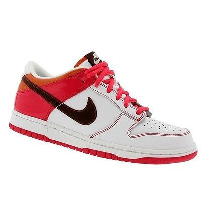super popular 8cd9f 88d76 Nike Dunk Low Gs Big Kids 309601-121 White Berry Shoes Sneakers Youth Size 6