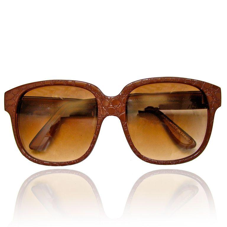 3911d94504 EMMANUELLE KHANH brown  lizard  sunglasses