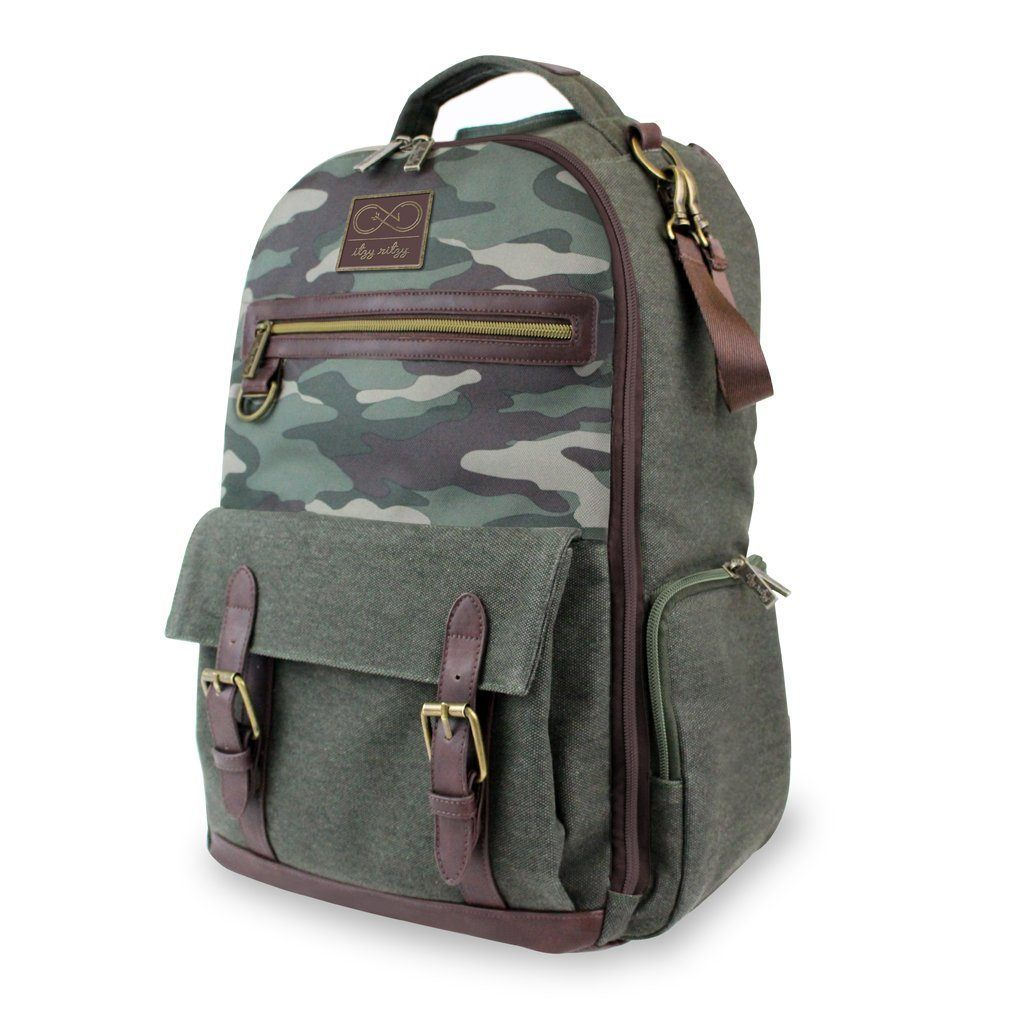 90a9c6c0d1a80 A diaper bag backpack made with rugged canvas and timeless camouflage - the  ultimate bag for