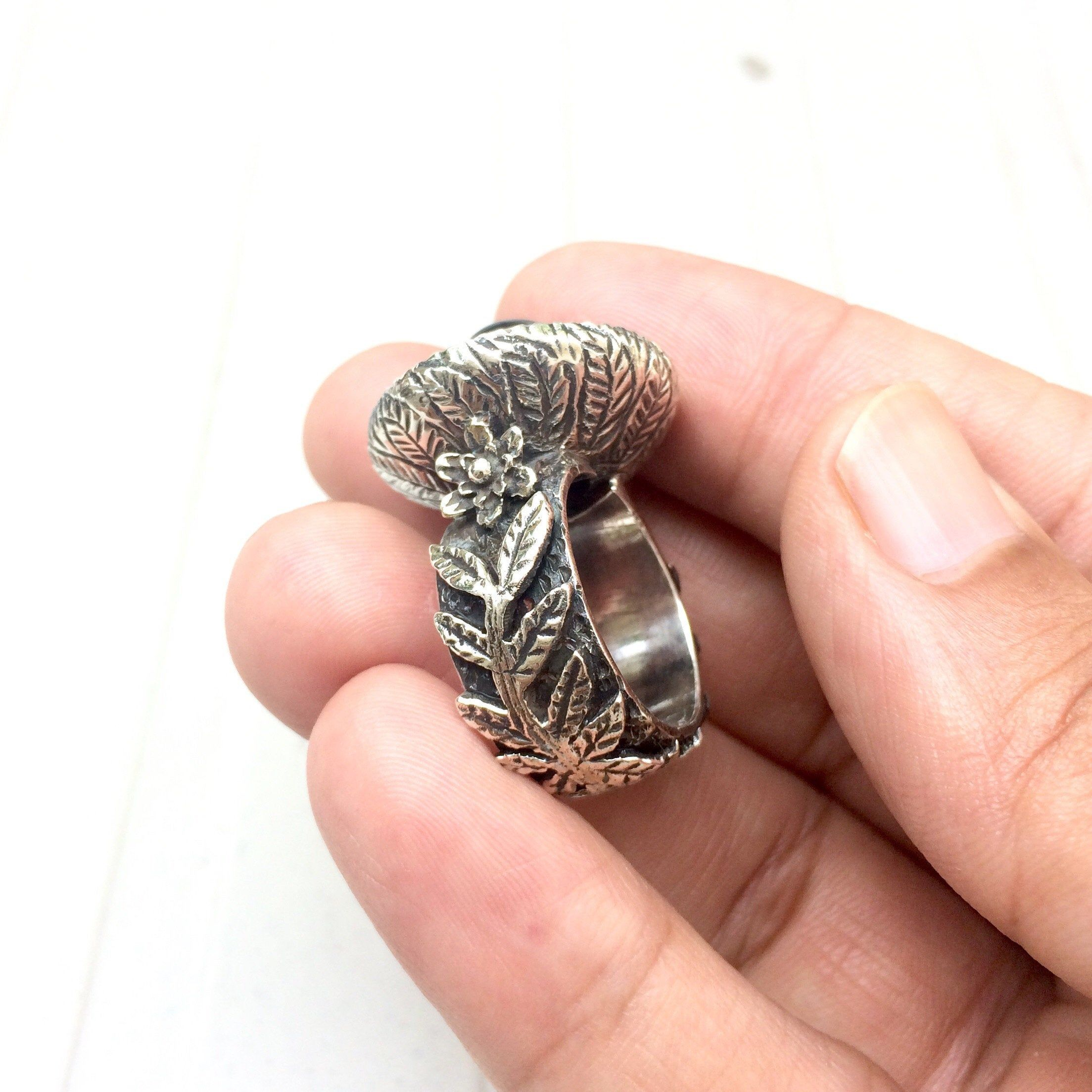 Moldavite ring moldavite ring size 6.50 genuine moldavite
