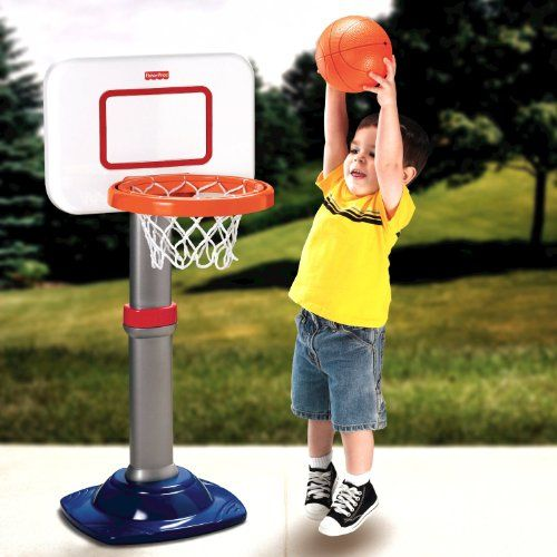 Eman Fisher Price I Can Play Basketball Set Outdoor Toys Fisher Price Toys Toys For Tots