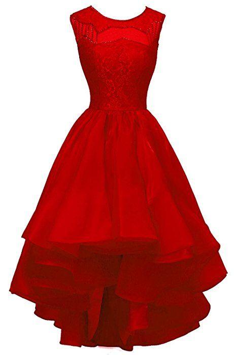 rote spitze kleider kurz penny