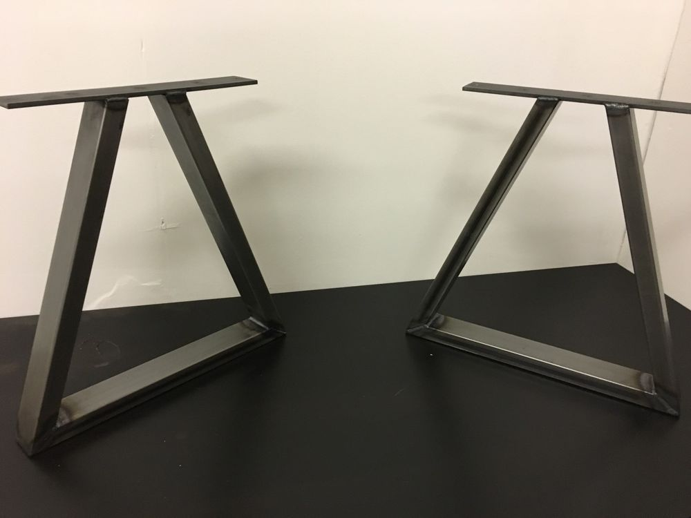 A Set Of Industrial Style Steel Table Legs Dimensions Height 400mm Width Bottom 400mm Width Of The Top Flat Pl Steel Table Legs Metal Furniture Metal Table