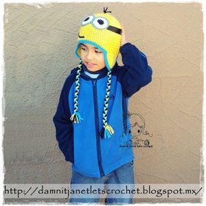 Minion Earflap Hat Beanie by damn it janet - free Minons crochet patterns roundup on Moogly!
