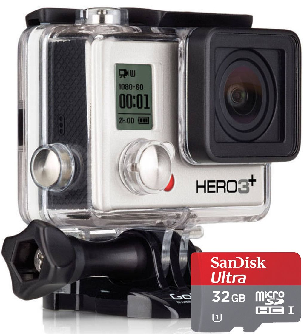 Share your adventures with the world this spring with the GoPro Hero 3+ Silver Edition HD Action Camera! Complete with a 32gb micro SD card for hours of recording time! Mount it, record it, share it! $300.00 http://www.heartratemonitorsusa.com/gopro-hero3-plus-sil-sd.html#prettyPhoto
