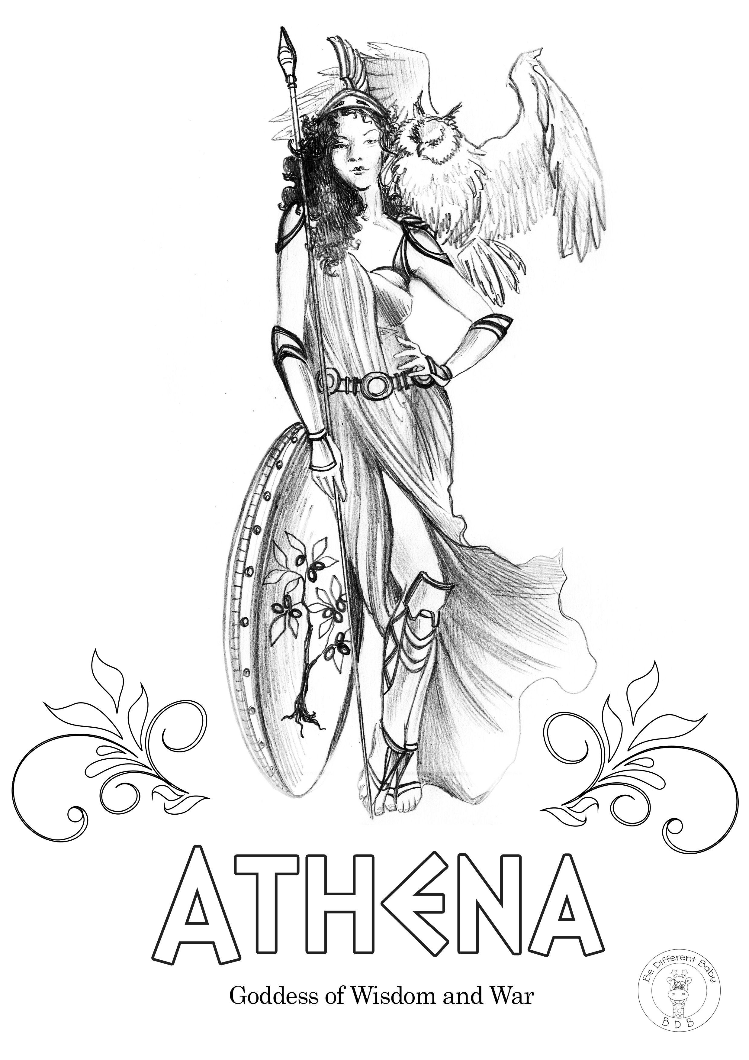 Greek Gods Coloring Pages In 2020 Greek Gods Greek Mythology