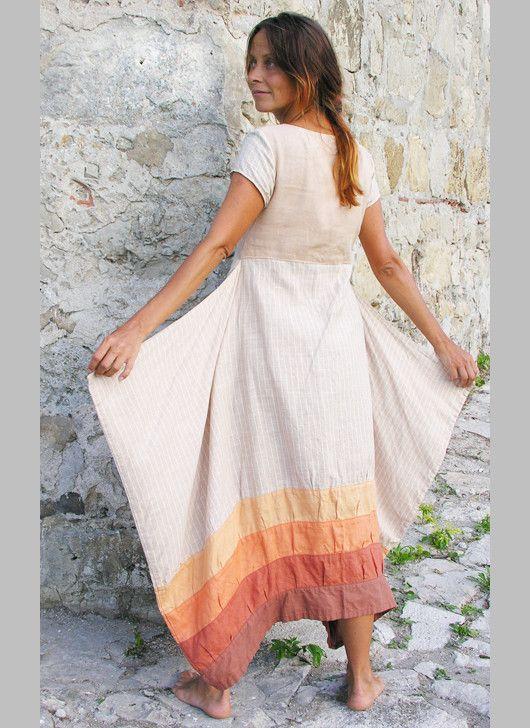 Платья ручной работы. Ярмарка Мастеров - ручная работа Платье молочное  полосатое. Handmade. 39cc9ed38d1