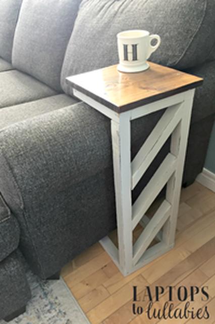 Easy Diy Sofa Tables Heather S Handmade Life Diy Home Decor Easy Home Decor Rustic Wooden Headboard