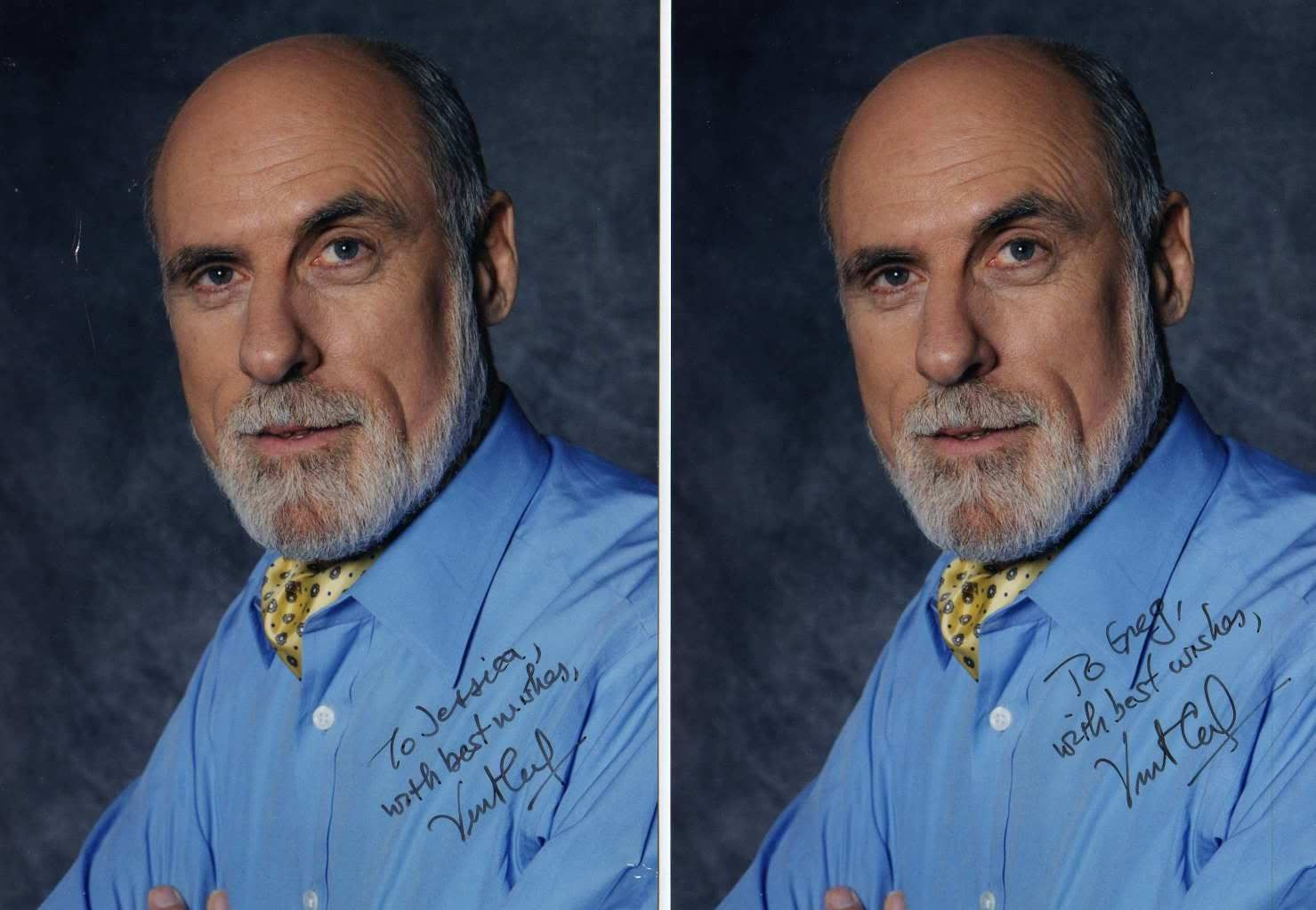 Vint Cerf Emailed Request Received 2 5x7 Color Photos Business Leader Photo Leader