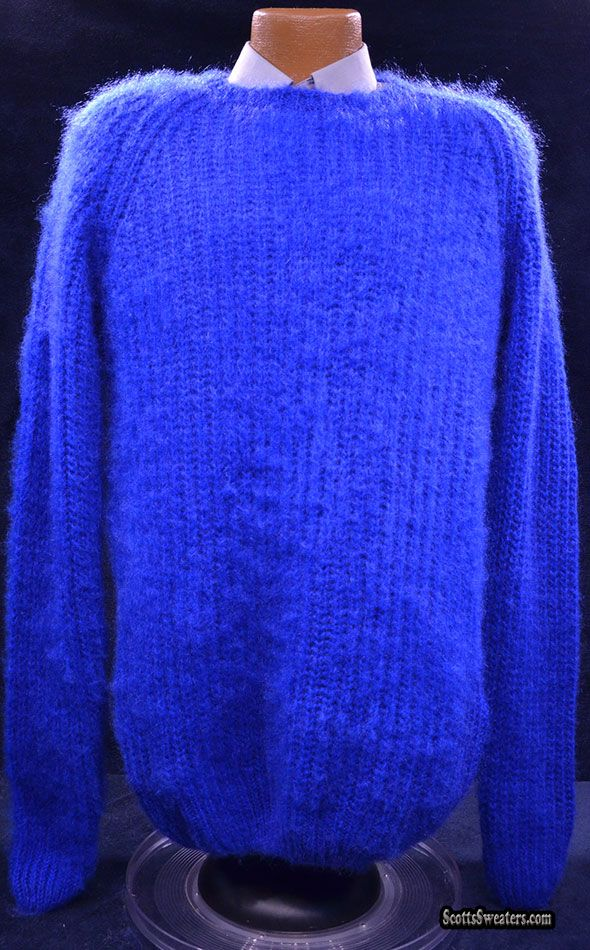 615-011 Men's Soft & Fuzzy Brushed Mohair Sweater