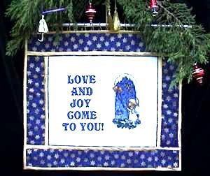 Advanced Embroidery Designs. Christmas Wall Hanging