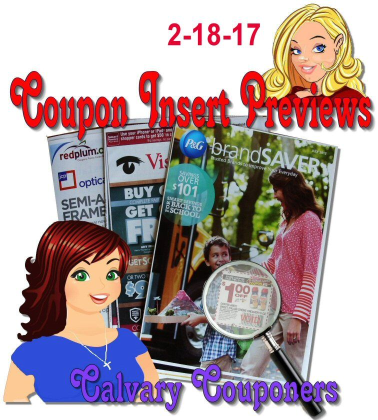 Sunday Coupon Insert Preview for 2-18-18