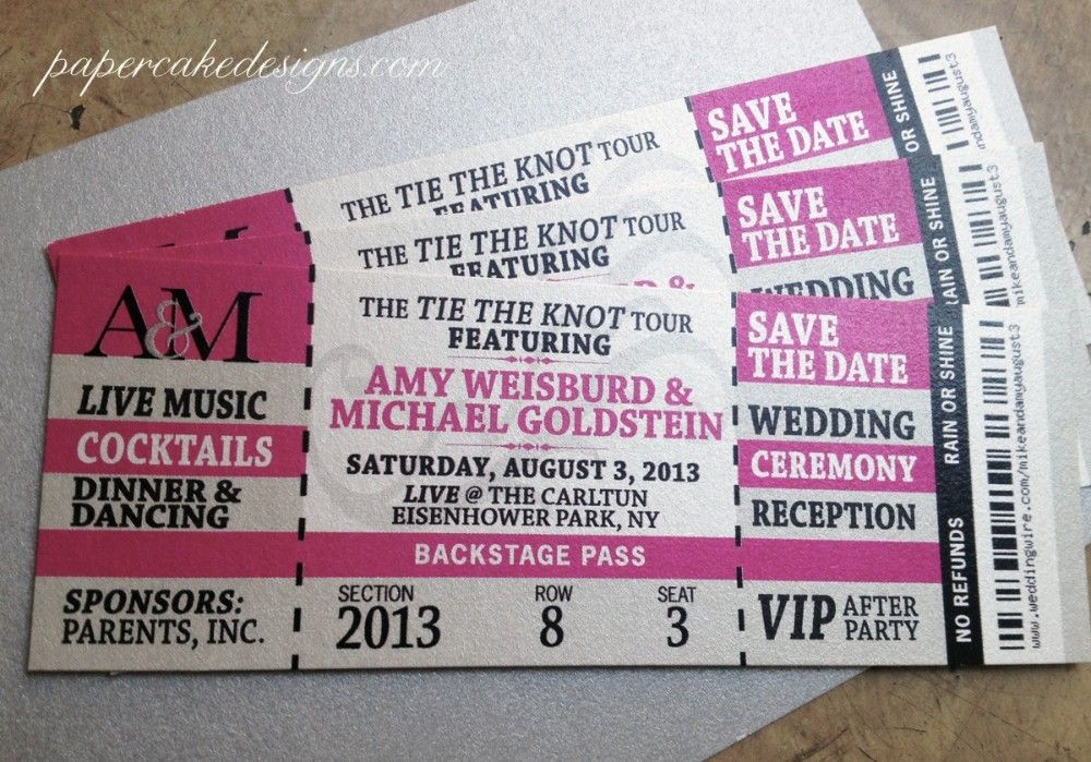 Wedding Event Ticket Template Printable Concert