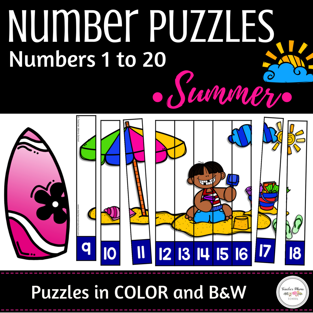 Numbers 1 To 20 Math Center Activity Number Sequence