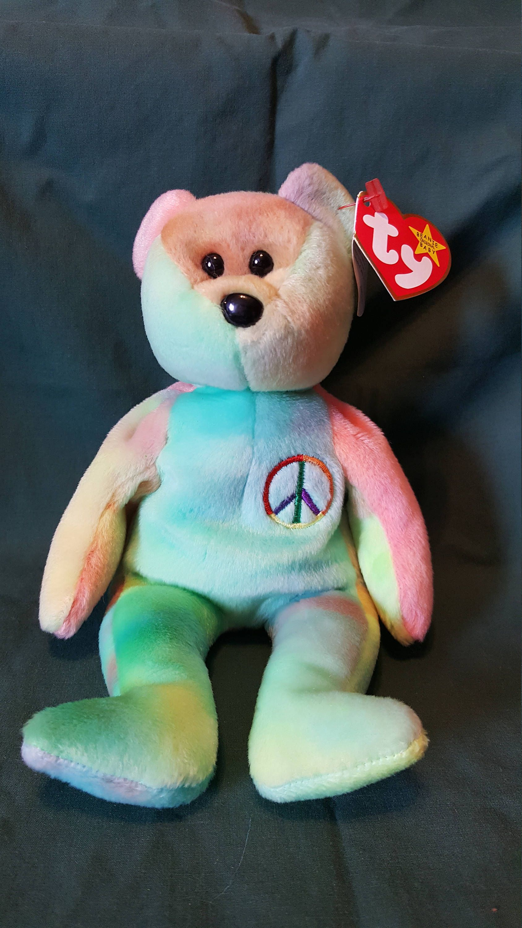 Vintage PEACE 1996 BEANIE BABY Collection Ty Inc. Excellent shape by  YourUniqueFinds on Etsy e1d8528b4ab5