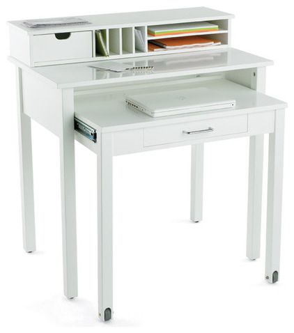 Works As A Bedside Table And Desk. Modern Desks By The Container Store