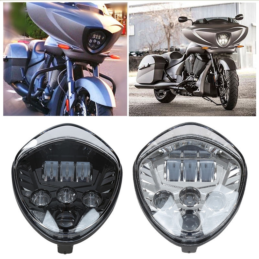 79.00$  Buy now - http://alib4d.worldwells.pw/go.php?t=32718785072 - Motorcycle LED Headlight 40W Black For Polaris Victory cross-country