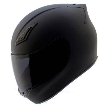 Duke Matte Black Full Face Motorcycle Helmet Dk 120 Free Tinted