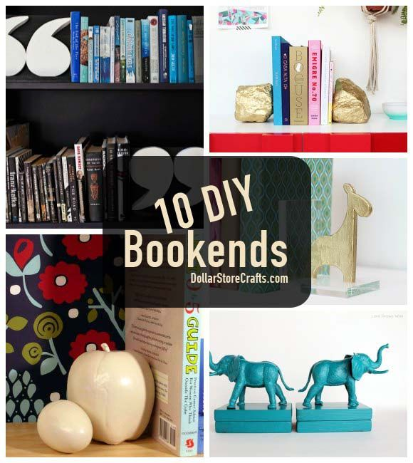 nice Homemade Bookends Part - 7: 10 DIY Bookends to Get Your Bookcase in Order