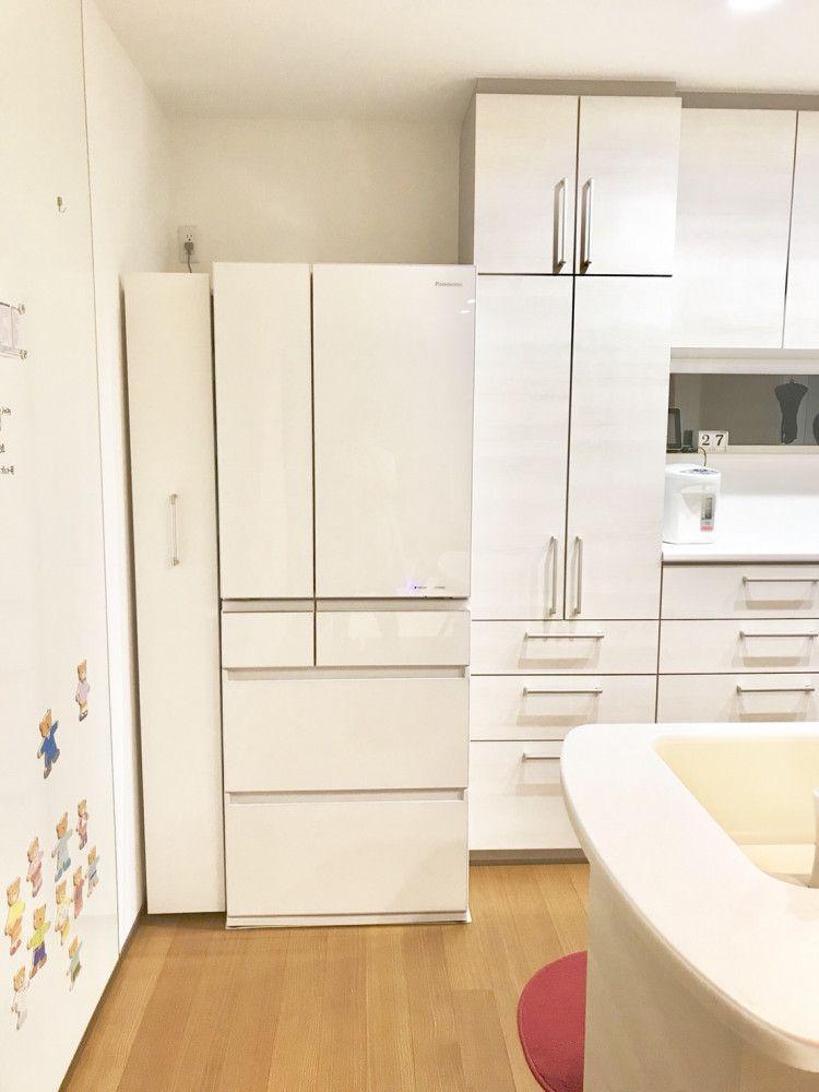 新しい冷蔵庫を置いたらドンピシャ リフォーム 間取り 冷蔵庫