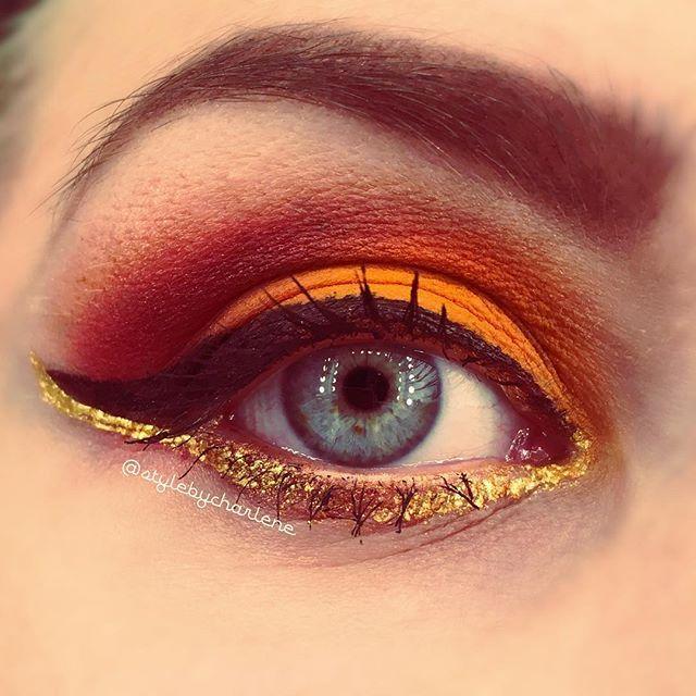 🌲🍂🌲🍂🌲🍂 #fallmakeup #eyemakeup #eyeshadow #makeup #eyes #mua #beauty #trend #halloween #spirit