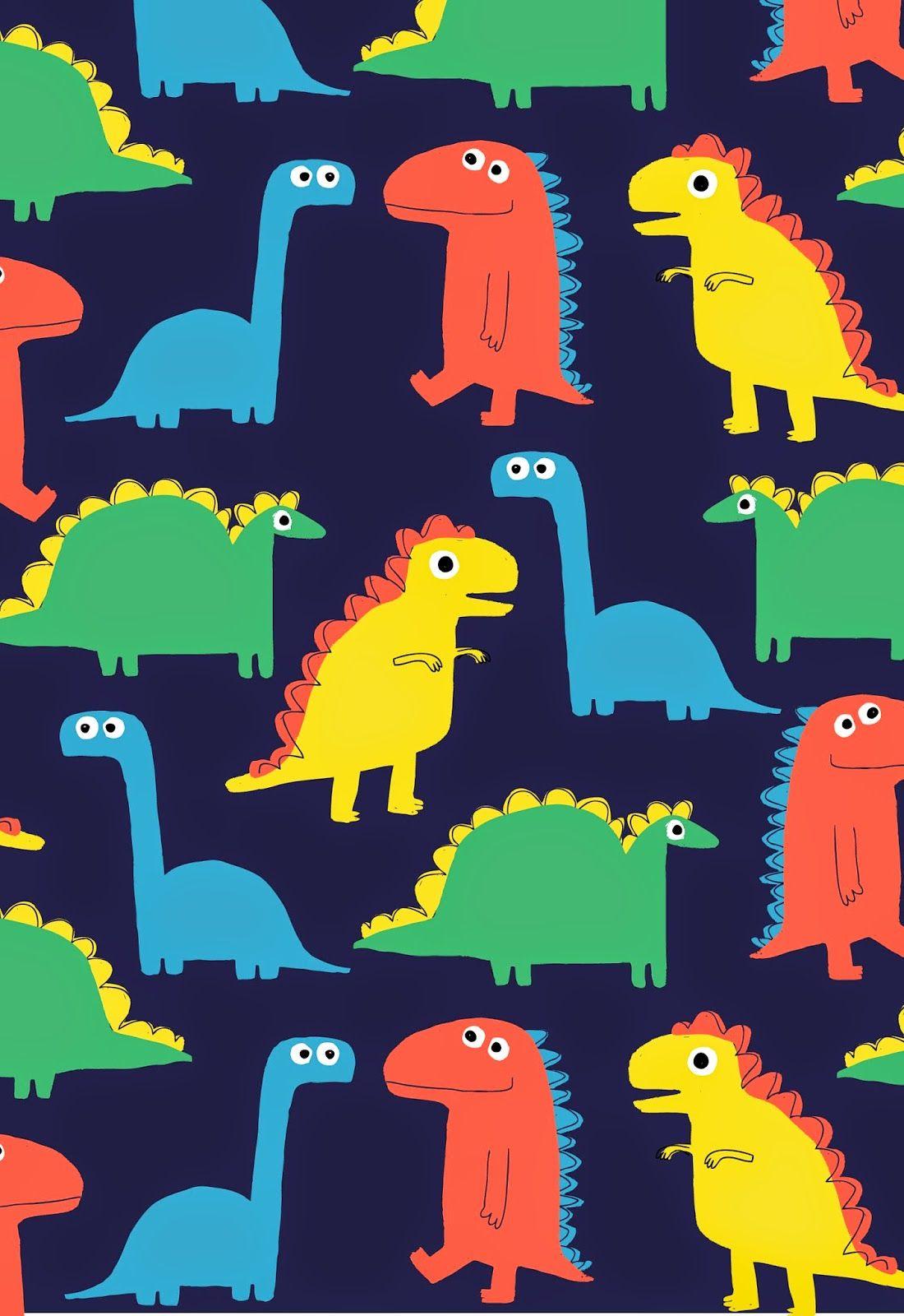 dawn Dinosaur illustration, Kids patterns, Cute