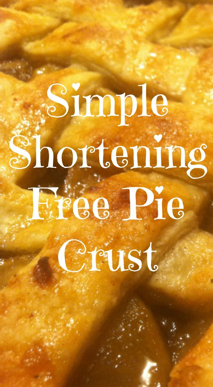 Super simple, flaky, and delicious homemade pie crust without the need for vegetable shortening.