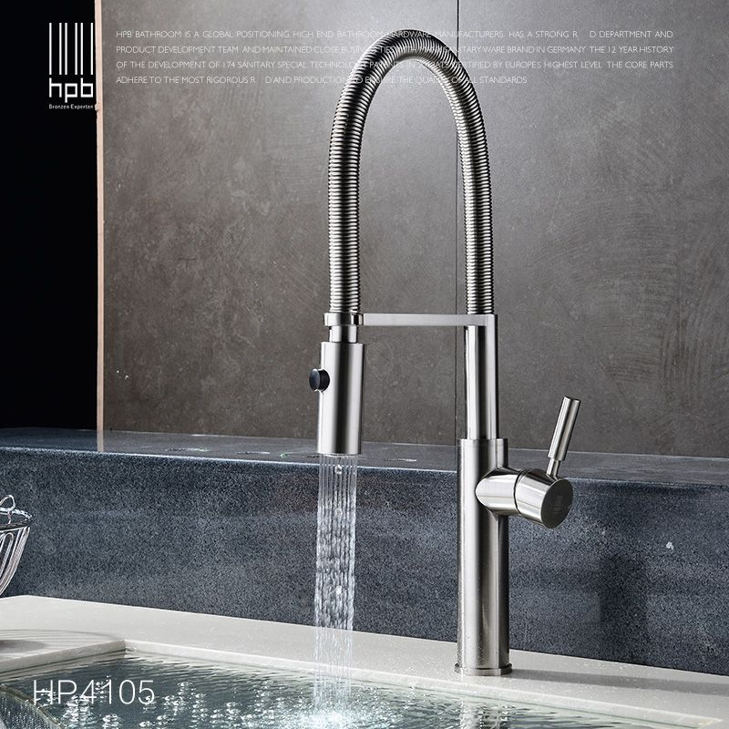school all copper hot and cold spring pull type kitchen faucet ...