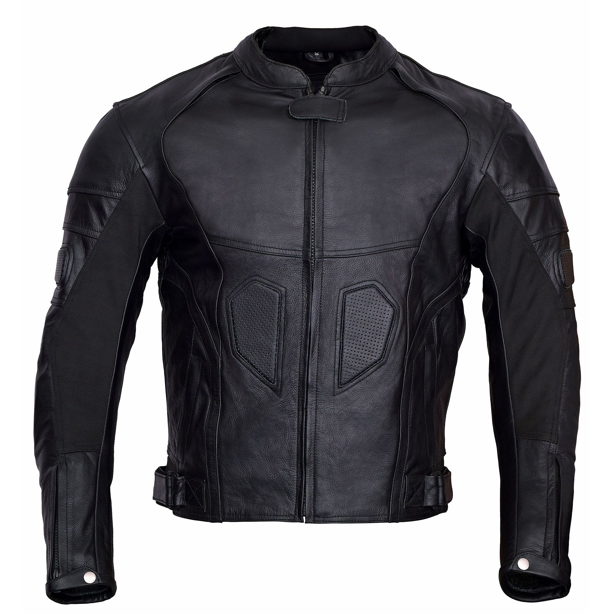 Men's BlackHeart Motorcycle Leather Race Jacket (With