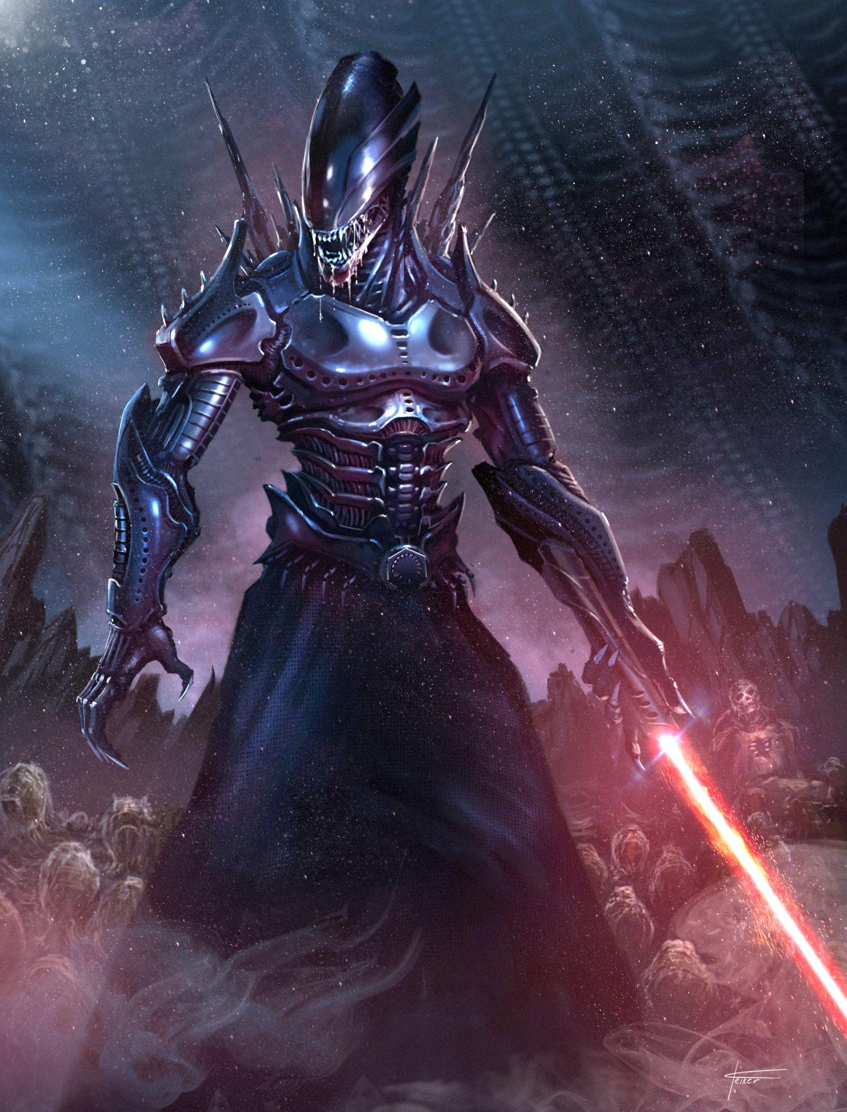 Resultado de imagen de xenomorph star wars aliens
