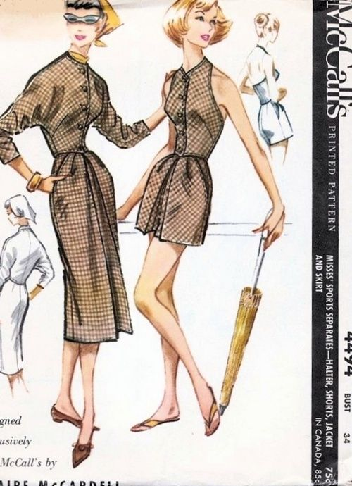 Claire McCardell McCalls Pattern 1958