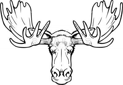 Moose Head Front Facing Moose Tattoo Moose Skull Moose Head