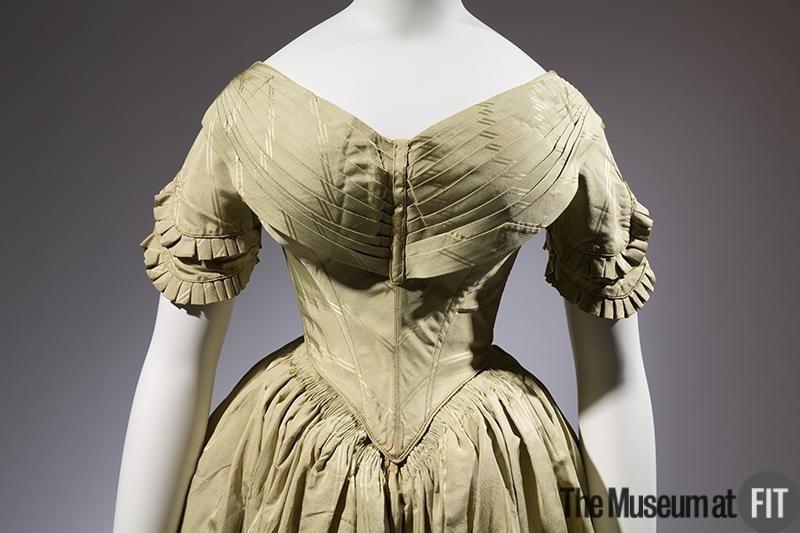 1840, America - Silk dress