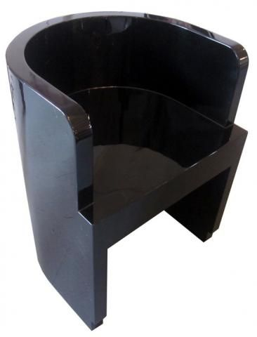 High Gloss Black Laquer Chair Italian Art Deco Black Lacquer Chair By  Guiseppe Pagano | Modernism