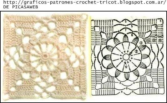 PATRONES - CROCHET - GANCHILLO - GRAFICOS: GRANNY TEJIDOS A CROCHET CON SUS GRACOS