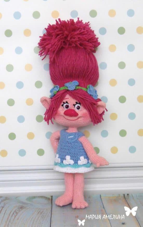 Crochet Troll Doll Best Free Easy Patterns Tutorials   Crochet ...