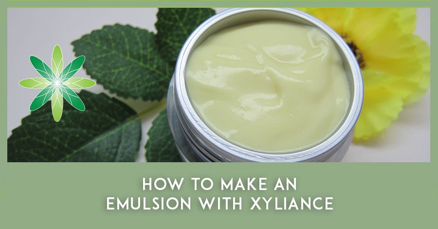 How To Make An Emulsion With Xyliance A Natural Vegan Emulsifier Natural Skincare Recipes Face Cream Recipe Vegan Wax