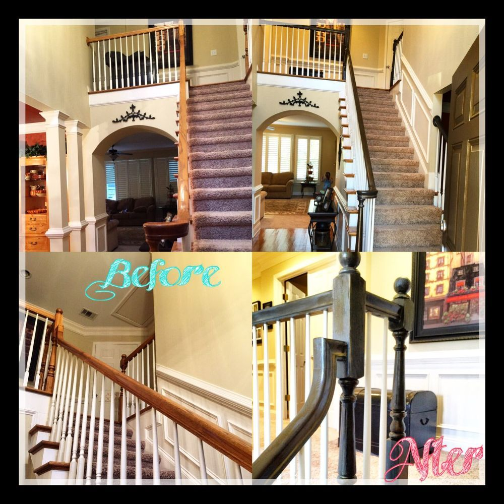 Best Refinishing Staircase Banisters A Complete Makeover 400 x 300