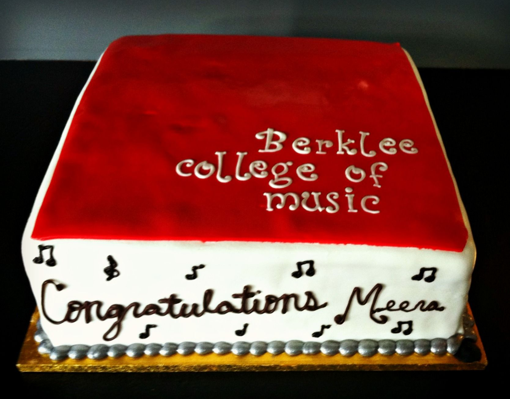 Graduation Cake Berklee College Of Music Graduation Cakes