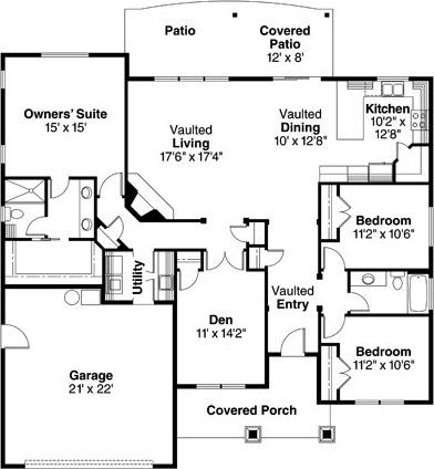 Simple Bungalow House Floor Plan