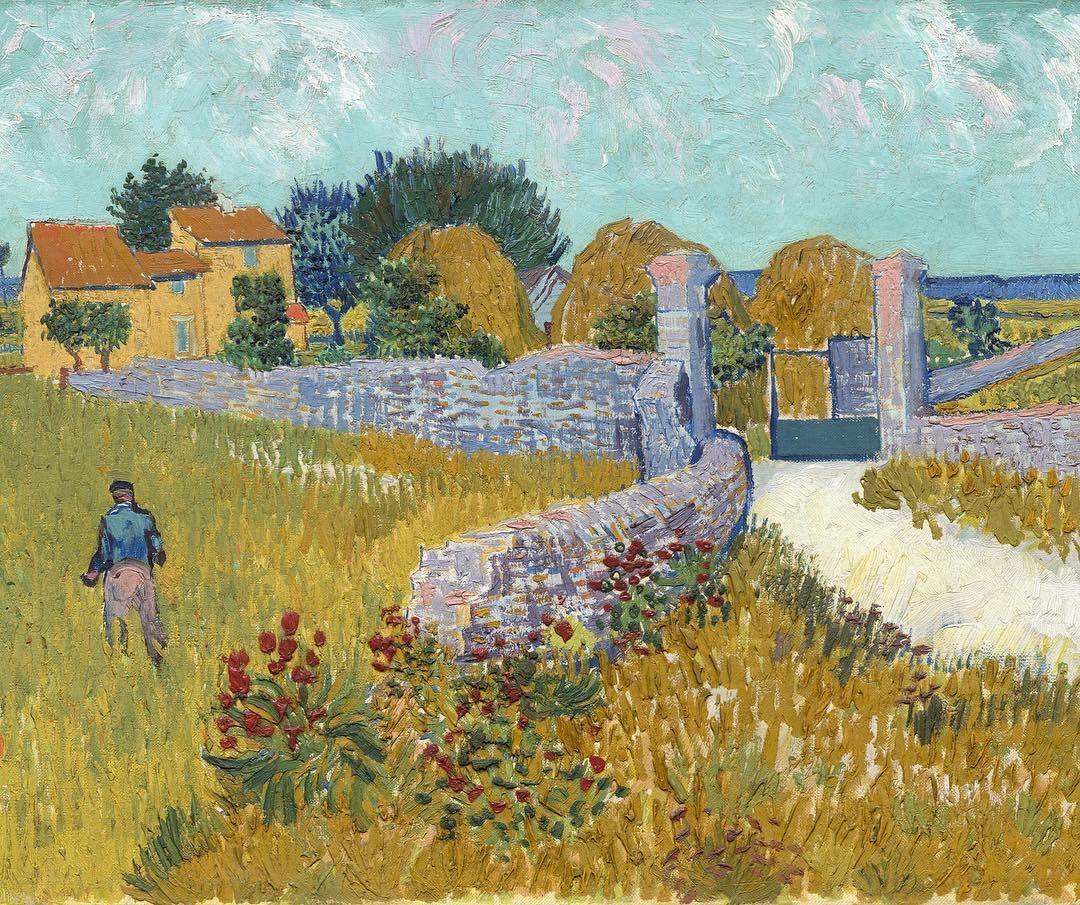 Vincent Van Gogh Farmhouse In Provence Vincent Van Gogh Paintings Artist Van Gogh Van Gogh Art