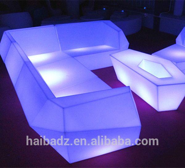 Beautiful China Wholesale Led Furniture Light Up Bar Table Furniture Night Club Led  Sofa