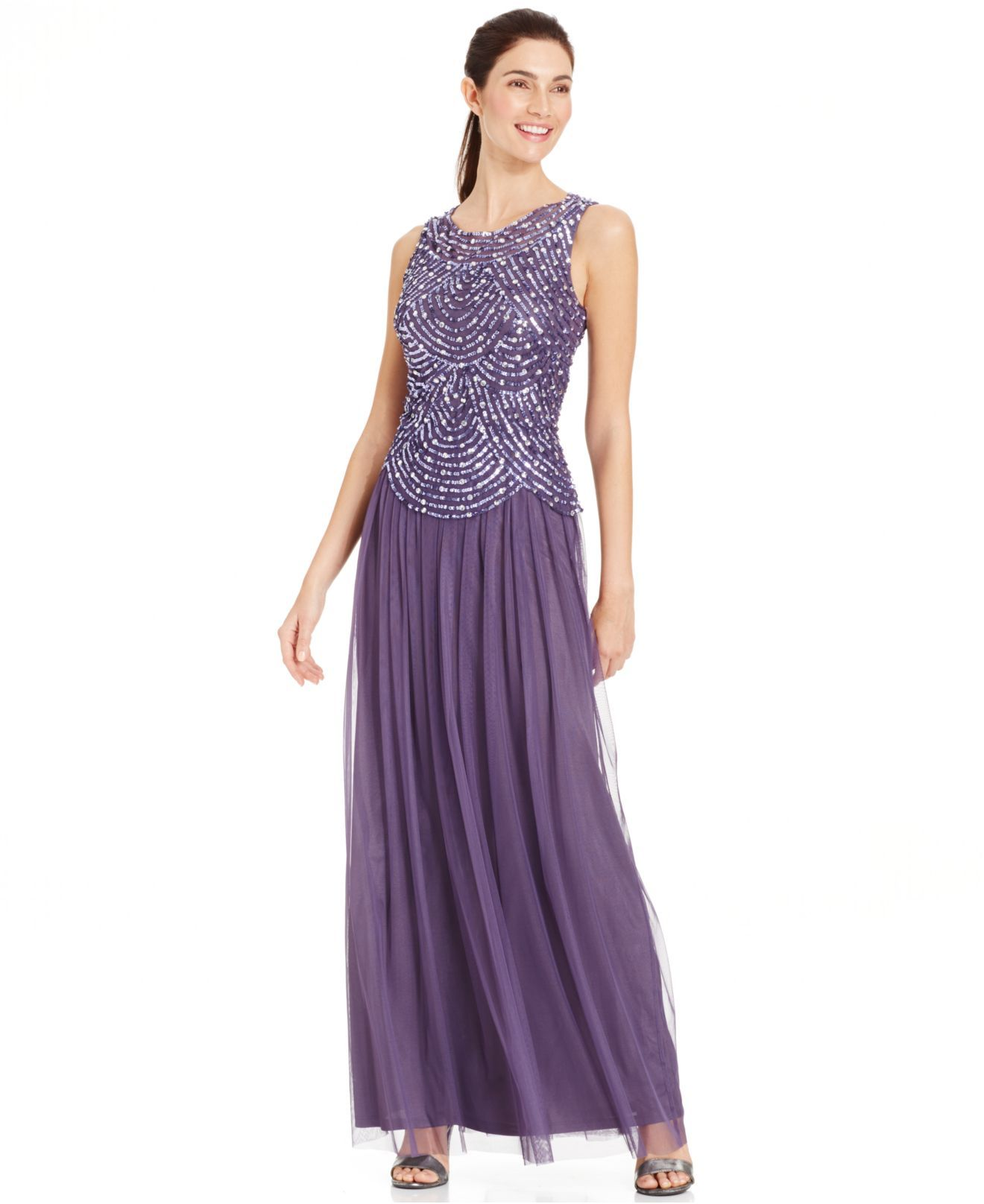 PATRA 2183 Purple Plus Size Embellished Popover Gown. Taille 46 ...