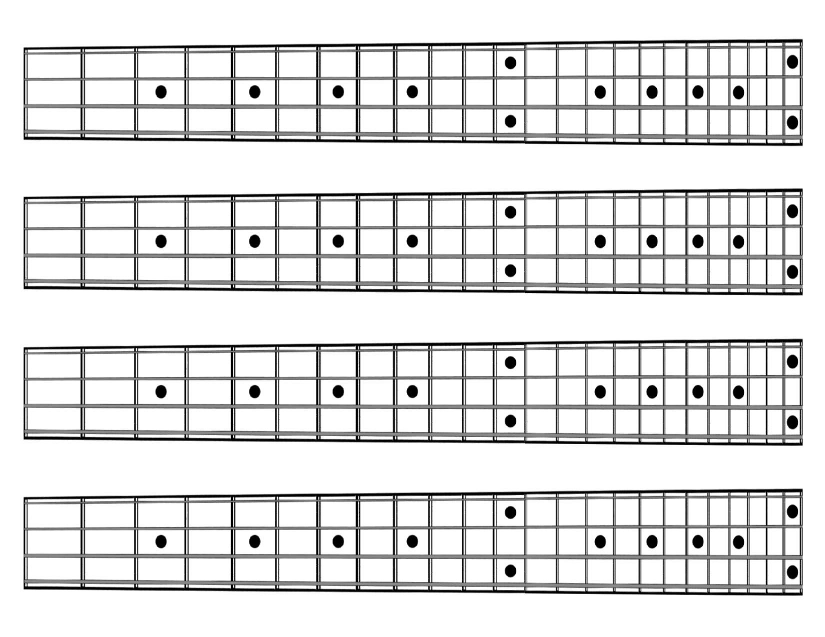 5 String Fretboard | MUSIC: Charts & Diagrams | Pinterest